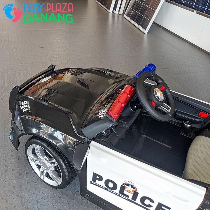 Xe hơi điện cảnh sát cho bé ghế da BBH-0007 13