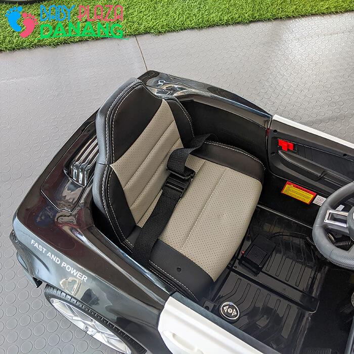 Xe hơi điện cảnh sát cho bé ghế da BBH-0007 17