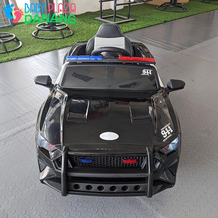 Xe hơi điện cảnh sát cho bé ghế da BBH-0007 3