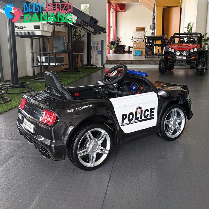Xe hơi điện cảnh sát cho bé ghế da BBH-0007 9