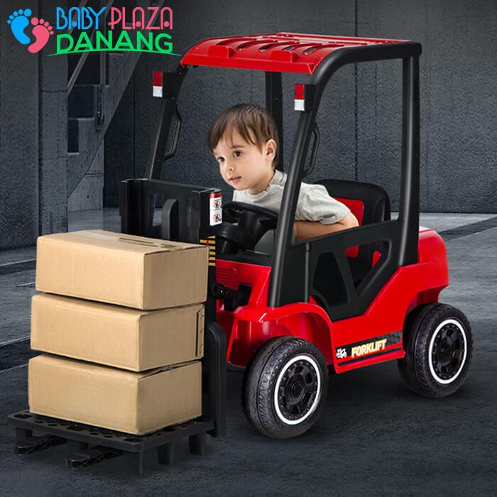 Xe nâng hàng chạy điện đồ chơi cho bé DLS-08 10