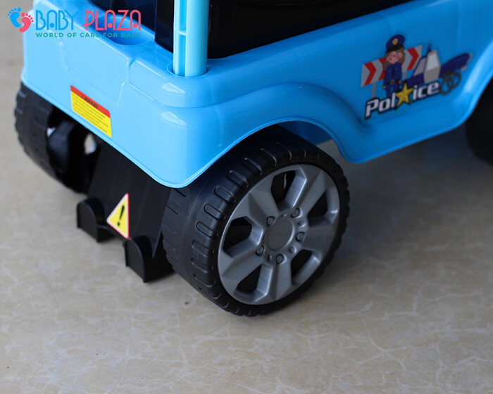 Chòi chân 4 bánh mô hình xe cảnh sát QX3352 10