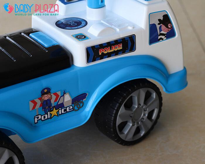 Chòi chân 4 bánh mô hình xe cảnh sát QX3352 6