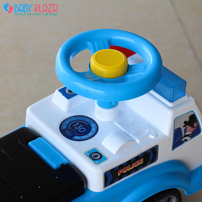 Chòi chân 4 bánh mô hình xe cảnh sát QX3352 7