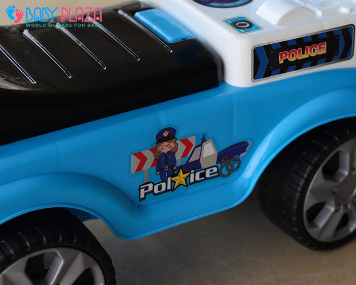 Chòi chân 4 bánh mô hình xe cảnh sát QX3352 8