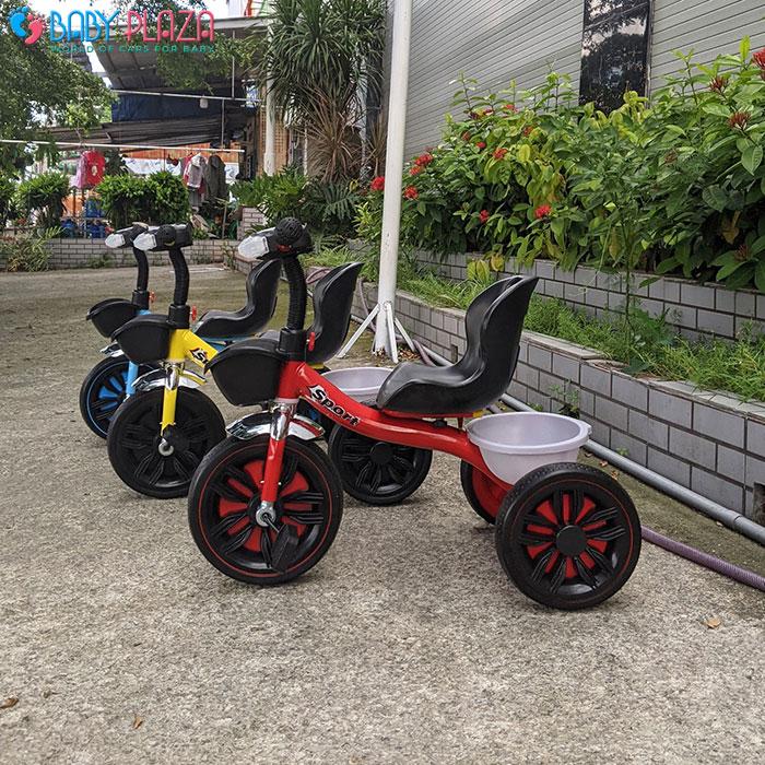 Xe đạp 3 bánh có đèn có nhạc Broller 916 2
